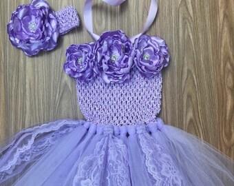 Purple Tutu Dress, Purple Birthday Dress, Purple Cake Smash Outfit, First Birthday Tutu Dress, Purple Baby Dress, Sophia The First Dress