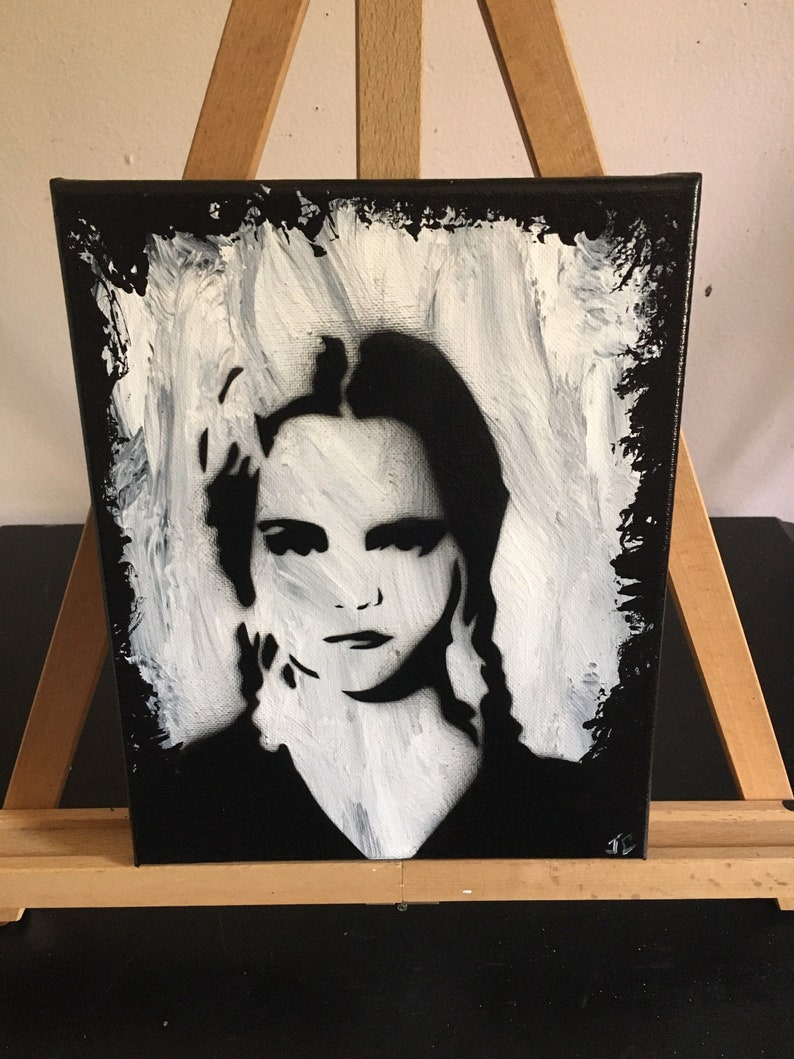 horror art addams family Wednesday addams acrylic painting gothic gifts Horror decor goth home decor