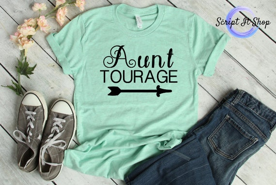 4028992a2eddd Aunt-tourage Tee. Aunt T-shirt. Gift for New Auntie. Bella