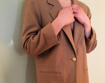 Soft Wool Oatmeal Blazer