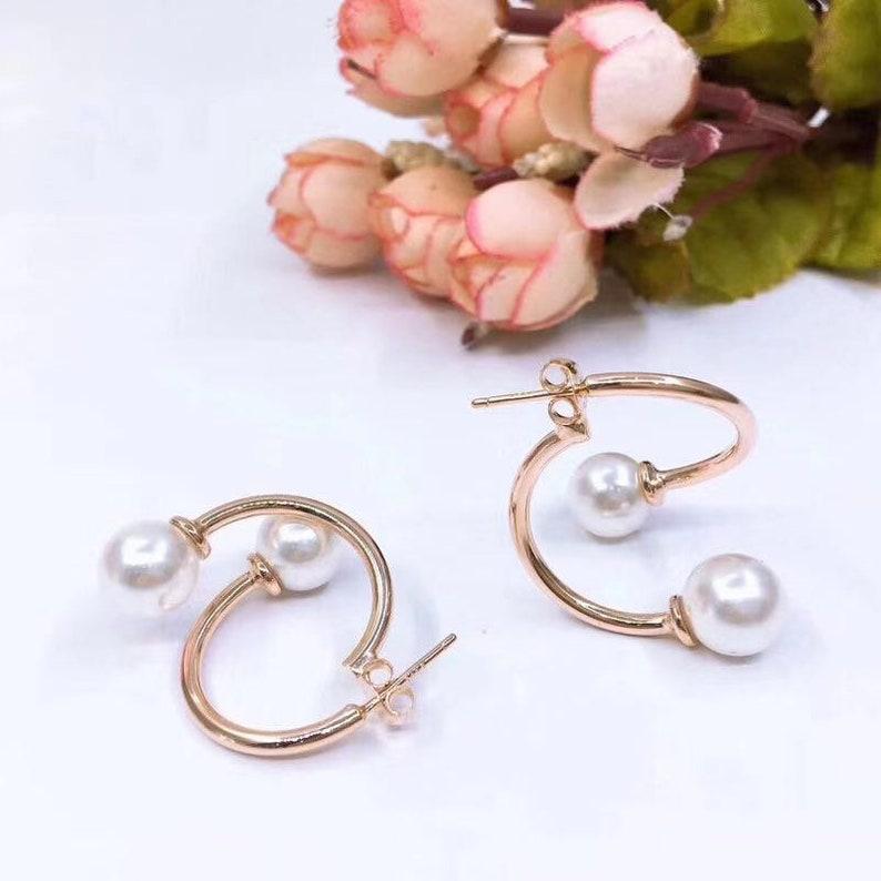 New Earrings 2019 Rose Gold Pearl Earrings Rose Gold Earrings Little Earrings Pearl Earrings