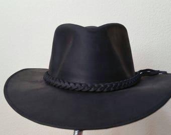 0f8947ab 100% Handmade - Top Grain Genuine Leather Hats - 100SPF/UPF50+ , Small - XXL