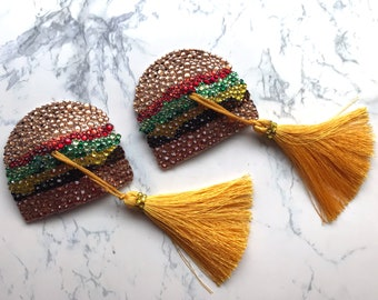 Cheeseburger Nipple Tassels | Burlesque - Cabaret - Festival Fashion