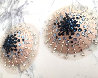 Duo/Trio Colour Illusion Pasties | Burlesque - Cabaret - Festival Fashion