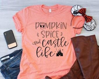 6113557bd3d Pumpkin Spice and Castle Life   Disney Shirt   Fall Shirt   Fall Disney  Shirt   Mickeys Not So Scary Halloween   Disney Halloween Shirt