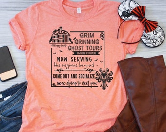 27260b7f1 Grim Grinning Ghost Tour Shirt / Haunted Mansion Shirt / Hitchhiking Ghosts  Shirt / Disney Halloween Shirts / Halloween Disney Family Shirts