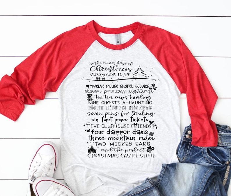 a491db8b 12 Days of Disney Christmas / Disney Christmas Shirt /   Etsy