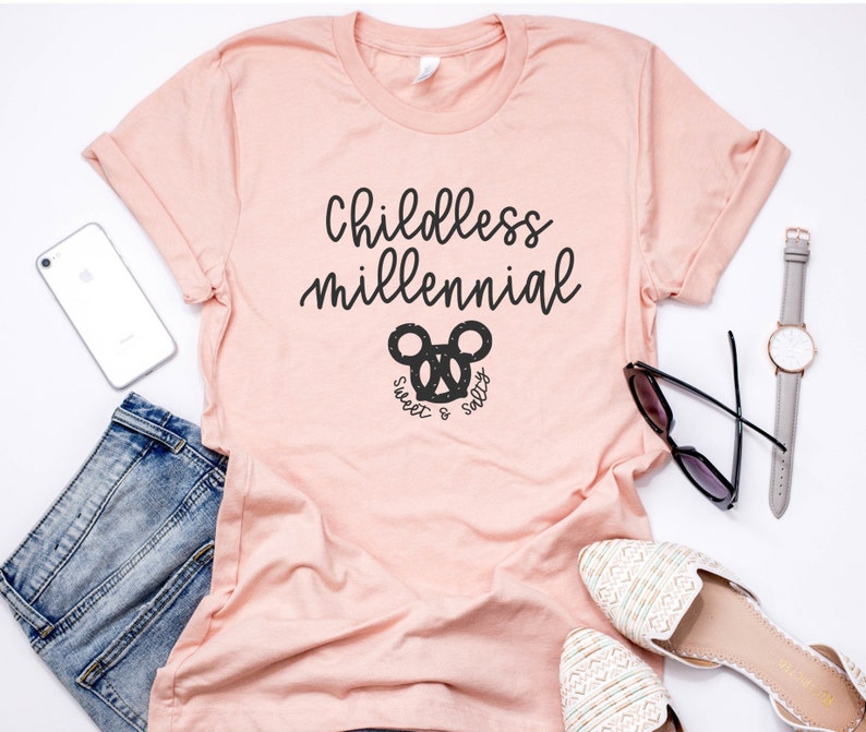Childless Millennial Disney Shirt / Disney Shirts for Women / Disneyland  Shirt / Disney World Shirt / Disney Vacation Shirt