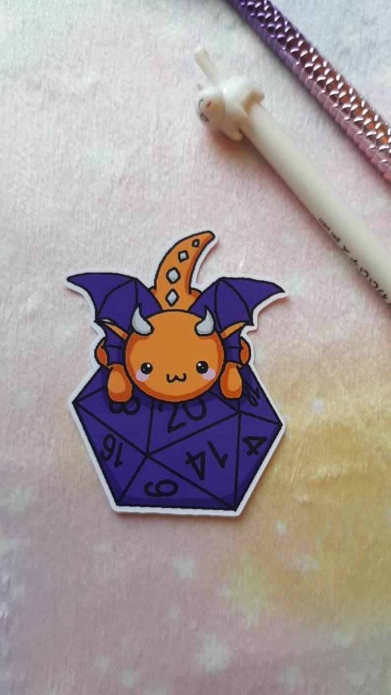 D/&D dragon stickers