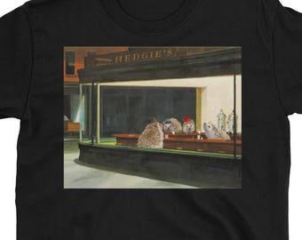 Hedgehog Shirt: Edward Hopper's Nighthogs Funny Art Shirt