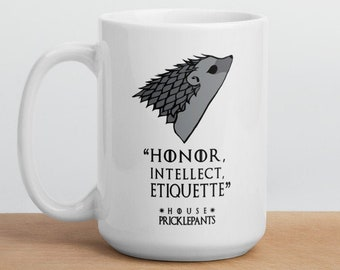 Hedgehog GOT Mug House Pricklepants Motto