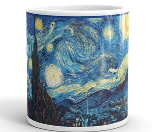 "Hedgehog Mug Van Gogh's 1888 ""The Starry Hedgehog Night"""