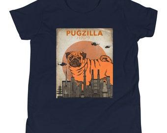 Pug Shirt For Kids Pugzilla Youth T-Shirt