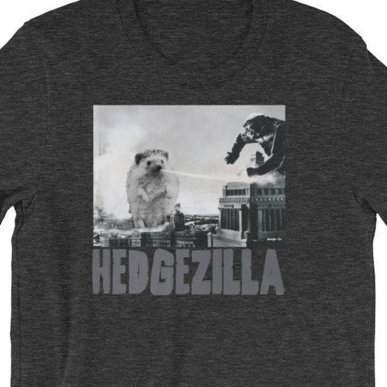 8114a6c31 Hedgehog T-Shirt: Hedgezilla Funny Hedgehog Kaiju Unisex | Etsy