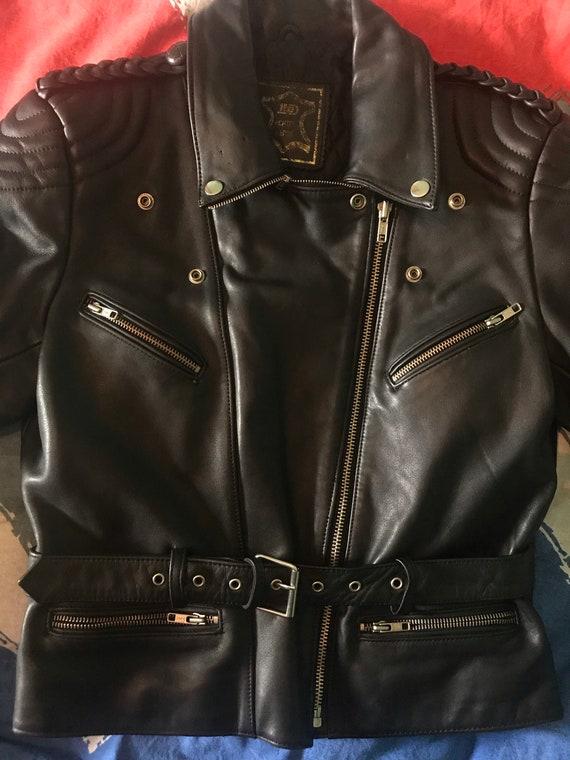 Mens Motorcycle  Leather Jacket - image 4
