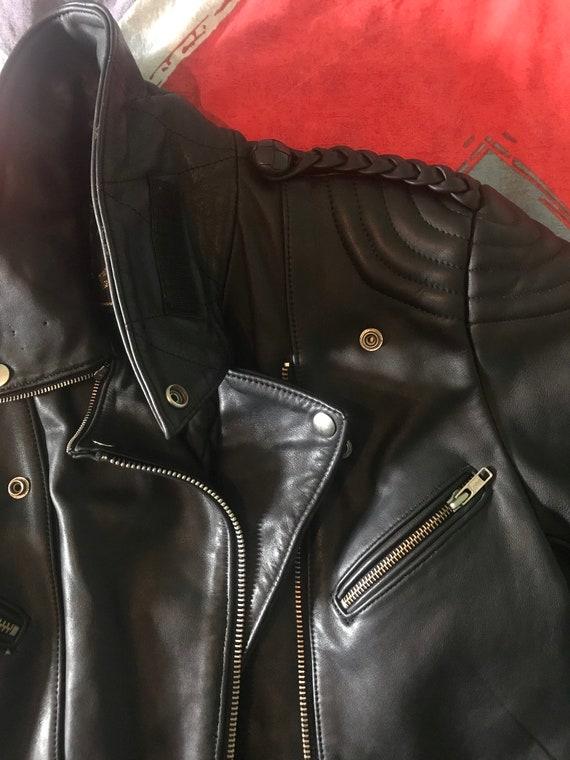 Mens Motorcycle  Leather Jacket - image 6