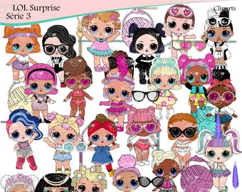 LOL Surprise Serie 3 Clipart instant download PNG file - 300 dpi