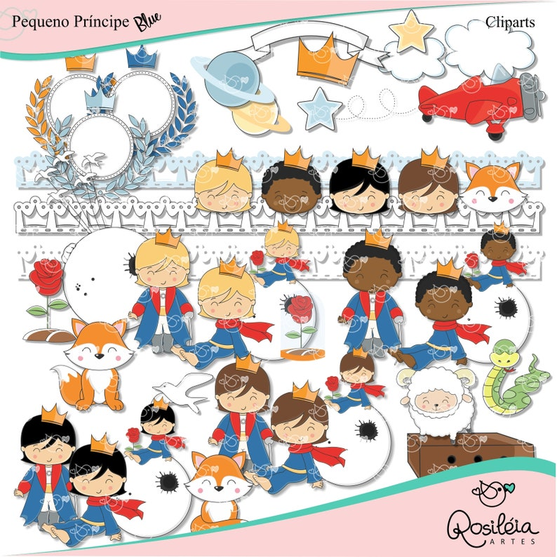 Little Prince_blue_Clipart instant download PNG file - 300 dpi