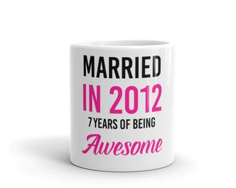 Awesome Wife For Seven Years Anniversary Mug