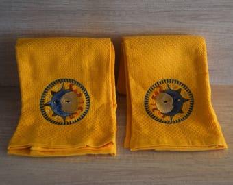 Sun Moon Kitchen Towels Set (2)