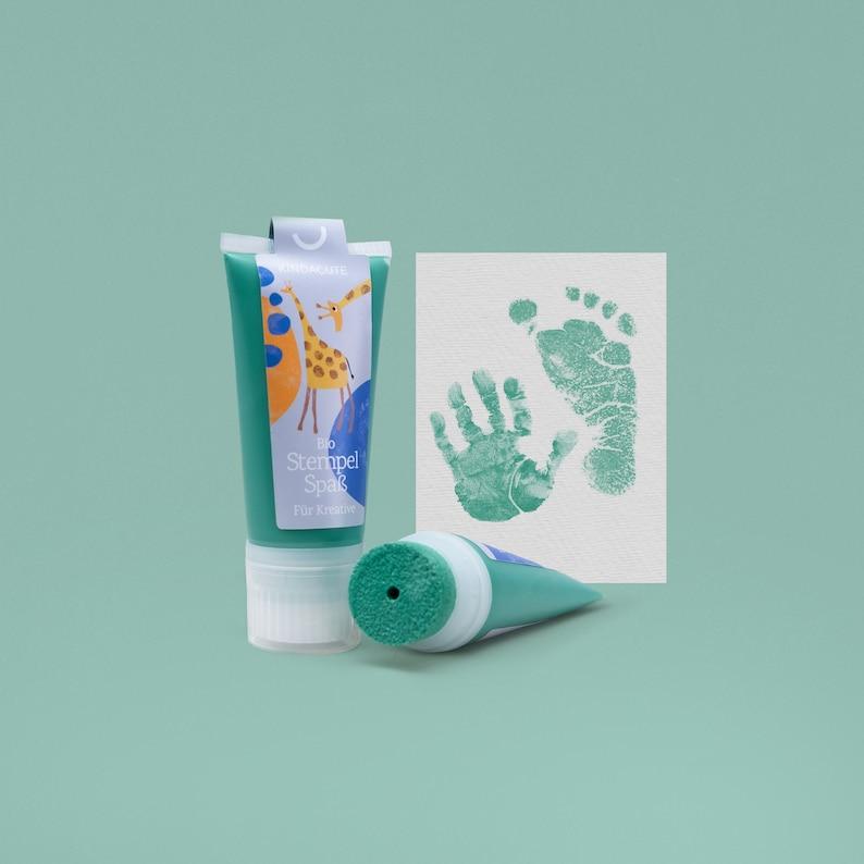 BERMUDA mint  Organic Stamping Fun 50ml Tube  detailed Baby image 0