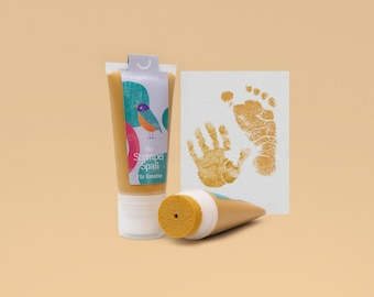 SUN | Organic Stamping Fun 50ml Tube | detailed Baby handprints footprints | 100% organic ink made in germany | absolutely non-toxic