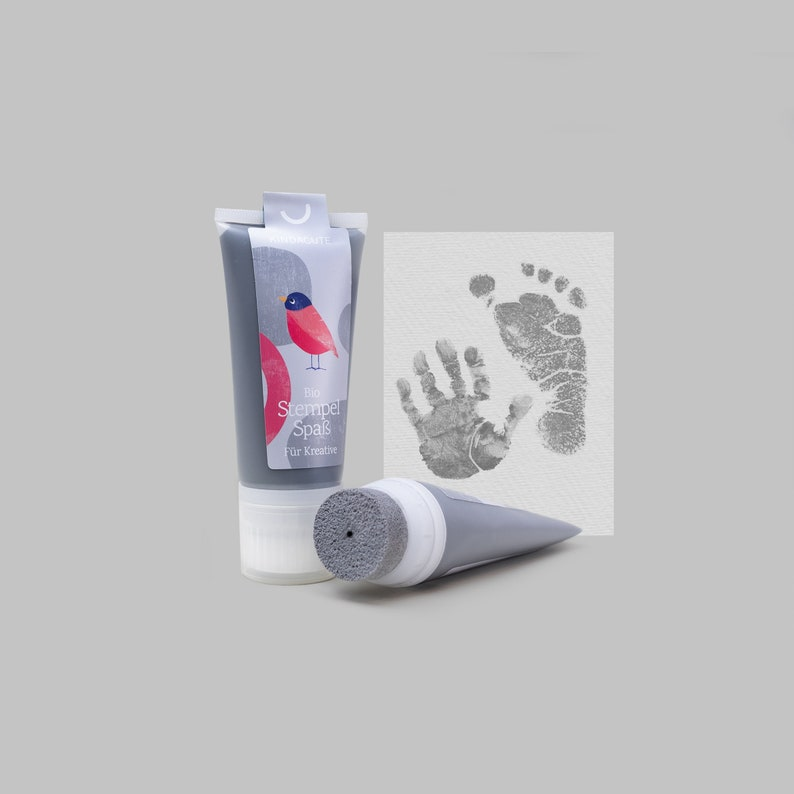 GREY  Bio Stamping Fun 50ml Tube  beautiful detailed Baby image 0