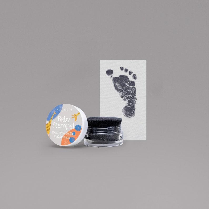 BLACK   Bio Bio Babystempel  20ml  for beautiful footprints image 0