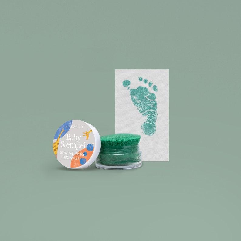 GREEN   Bio Bio Babystempel  20ml  for beautiful newborn image 0