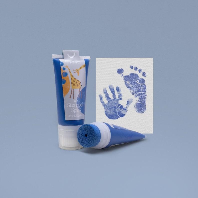 NAVY blue  Organic Stamping Fun 50ml Tube  for detailed Baby image 0
