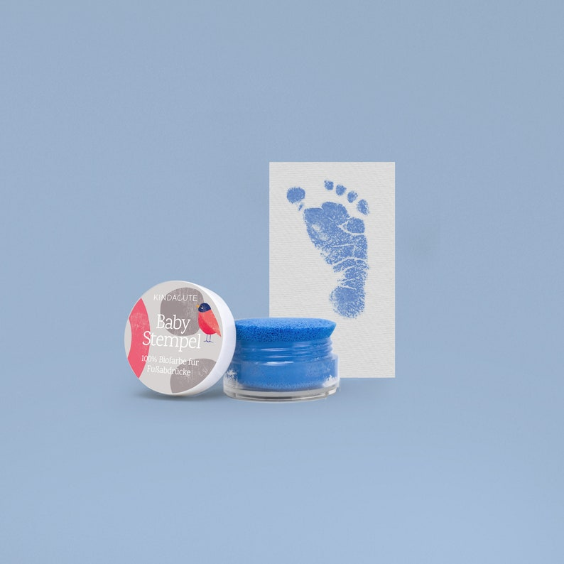BLUE   Bio Bio Babystempel  20ml  for beautiful newborn image 0