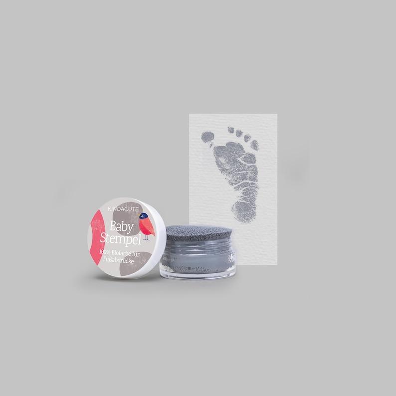 GREY   Bio Bio Babystempel  20ml  for beautiful Footprints image 0