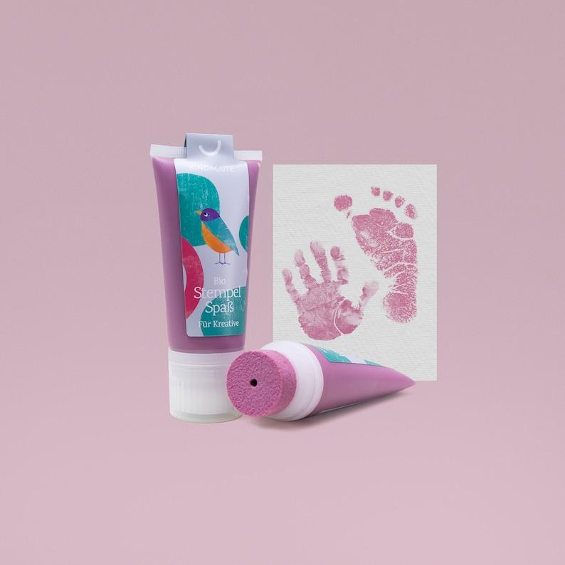 PINK  Bio Babystempel 50ml Tube  beautiful detailed Baby image 0
