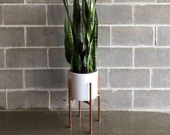 Copper Plant Stand Windowsill Etsy