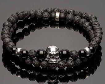 Bracelet homme tete de mort createur