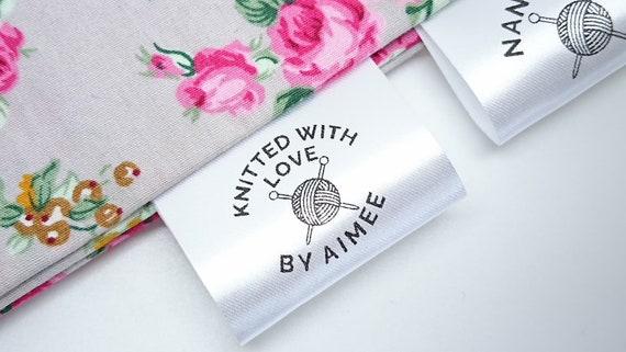 Personalised sew in clothing garment label craft business handmade bespoke
