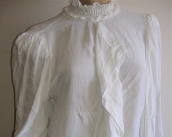 1930S STYLE WHITE blouse