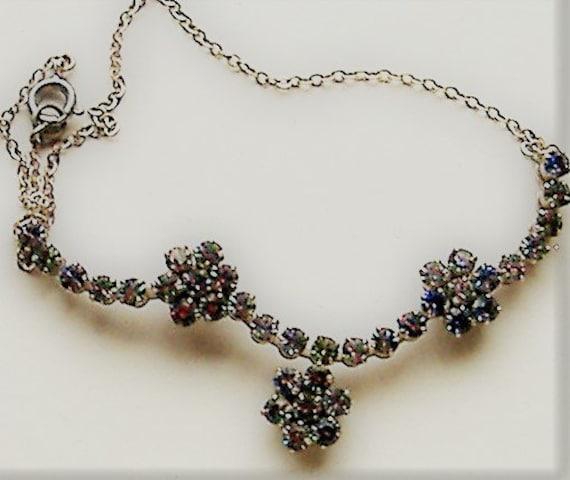 1950S   necklace RAINBOW DIAMANTE - image 2