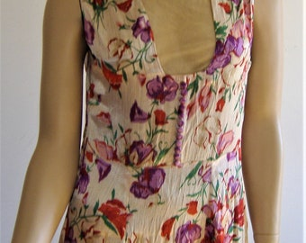 1930s stunning  ART DECO LONG  dress possibly very early 40s uk 10 /12