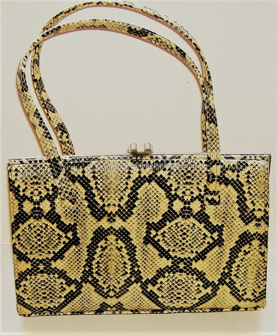 LATE 1940S/50S faux SNAKESKIN BAG