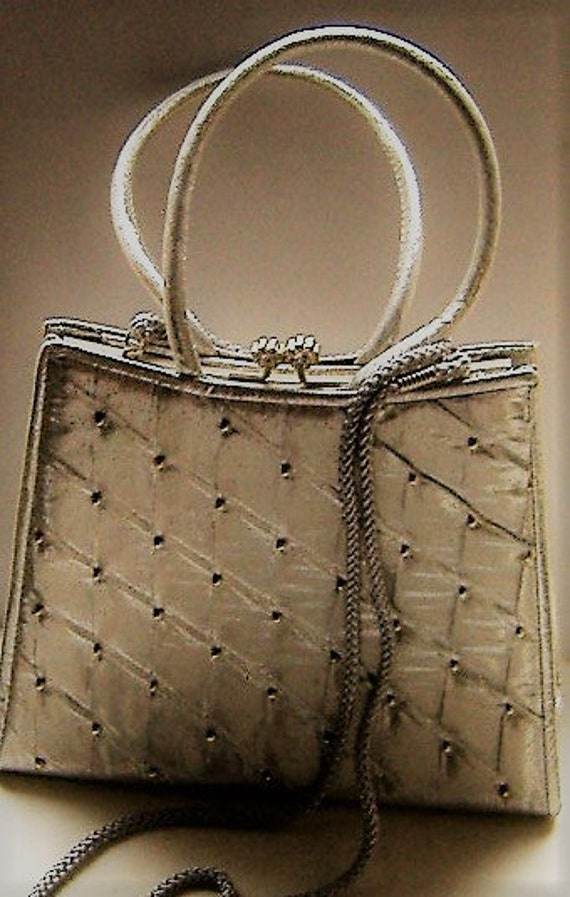1980S STYLE  SILVER  evening bag