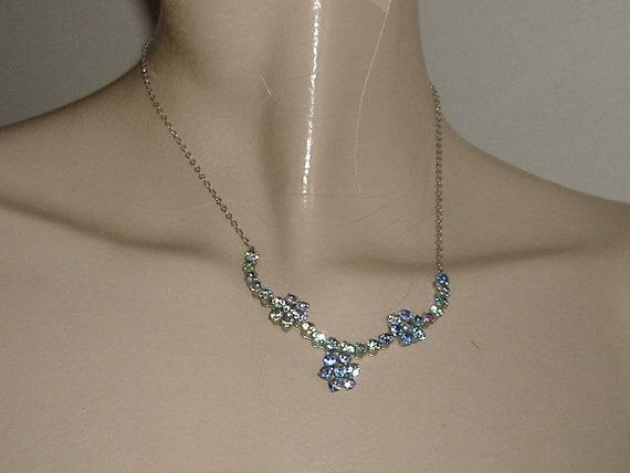 1950S   necklace RAINBOW DIAMANTE - image 4