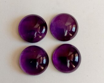 8 Inches Size 15-9mm African Stones AAA Natural Amethyst Smooth Oval