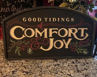 Christmas Tidings Of Comfort & Joy  Arched Sign
