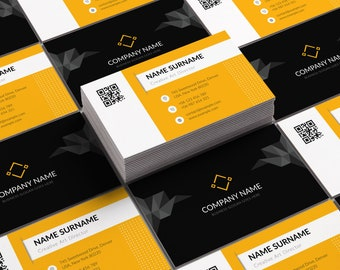 Modern Business Card Template Professional Business Card Etsy