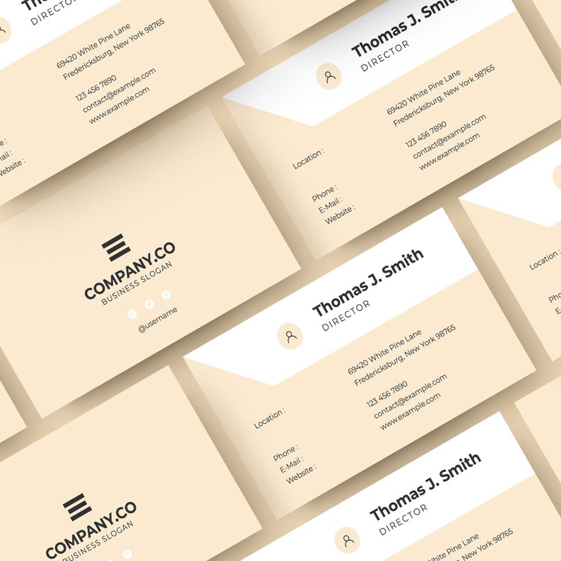 Minimalist Business Card Design Clean And Professional
