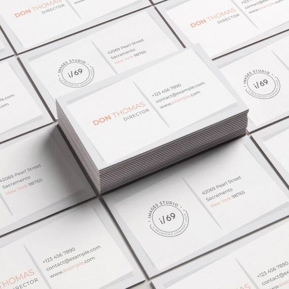 Einfache Visitenkarte Design Moderne Und Minimalistische Visitenkarten Layout Photoshop Visitenkarte Vorlage Sofort Download Karte