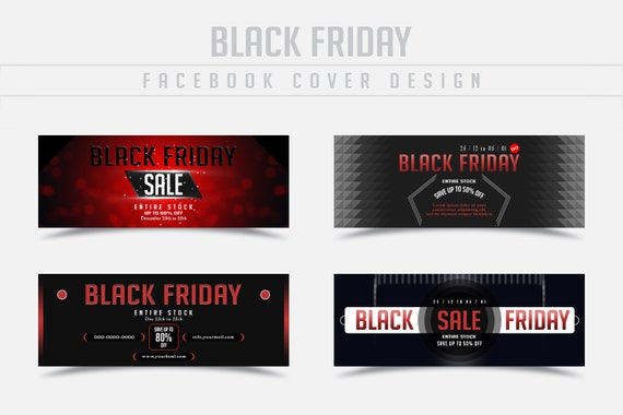 Black Friday Sale Facebook Cover Timeline Social