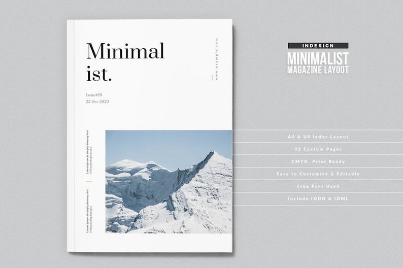 InDesign Magazine Template | Minimalist Magazine Layout | Clean and Elegant  Magazine Template | Professional Magazine Layout Design