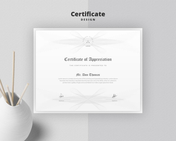 picture about Printable Certificate Paper named Certification Template Certification of Appreciation Certification of Accomplishment Versatile Certification Structure